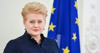 Грібаускайте назвала Лукашенка диктатором з кривавими руками і закликала піти геть