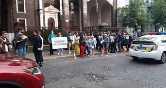 Хватит пыток: под посольством Беларуси в Киеве требовали освобождения задержанных украинцев