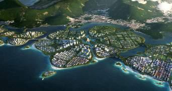В Малайзии появятся рукотворные острова с городами будущего: фантастические фото проекта