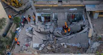 Трагедия в Китае: обрушился ресторан с людьми, много погибших – фото