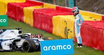 Формула-1: Расселл і Джовінацці потрапили у важку аварію на гран-прі Бельгії – відео