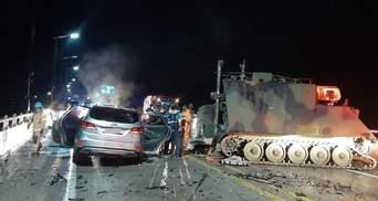Американские военные на БТРе попали в ДТП в Южной Корее: есть жертвы