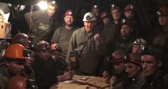 Шахтеры из Кривого Рога протестуют под землей уже ровно месяц