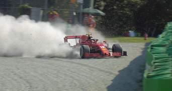 Пілот Ferrari Леклер потрапив у моторошну аварію та розбив болід: фото та відео