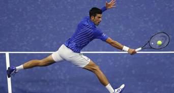 Відоме покарання для Джоковіча за влучання м'ячем в арбітерку під час матчу US Open