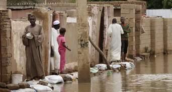 В результате наводнения в Судане ввели чрезвычайное положение: впечатляющие фото и видео