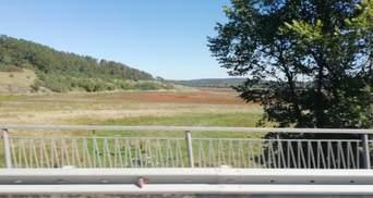 Симферопольское водохранилище полностью высохло: фото экологического бедствия