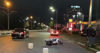 Смертельное ДТП в Киеве с участием мотоцикла: в сети появилось видео момента аварии