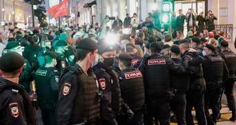 В Москве митинговали в поддержку Беларуси: есть задержанные, среди которых известная певица