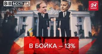 Вести.UA: У Бойко – 13%. Крокодиловое мясо для украинцев