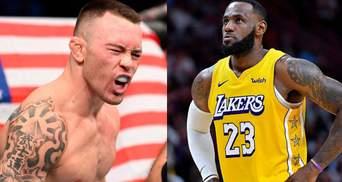 Леброн Джеймс відповів насмішкою бійцеві UFC Ковінгтону, який назвав його безхребетним боягузом