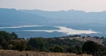 В оккупированном Крыму пересыхает еще одно водохранилище: фото