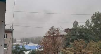 В Донецкой области бушевала пылевая буря: фото