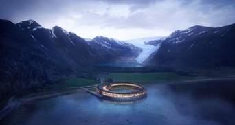 Самый экологичный отель за Полярным кругом: фантастические фото деревянного проекту из Норвегии