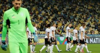 Україна поступилася Німеччині у напруженому матчі Ліги націй: відео