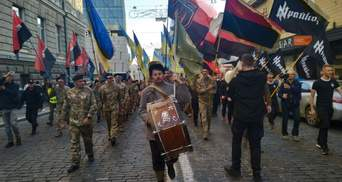 В городах Украины проходят марши ко Дню защитника: фото, видео