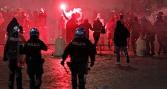 В Італії – новий спалах COVID-19, на тлі посилення карантину спалахнули протести: фото, відео