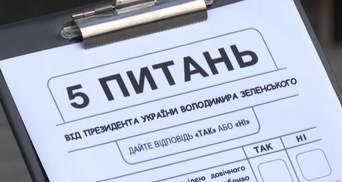 Як відреагували українці на опитування Зеленського: результати екзитполу