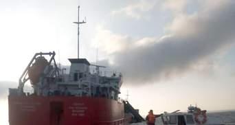 В Азовському морі припинили пошуки зниклих членів екіпажу після вибуху російського танкера