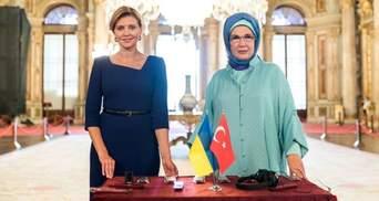 У бездоганному образі: Олена Зеленська зустрілась з жінками – послами іноземних держав
