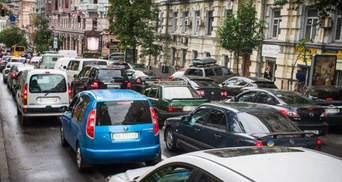 Пробки в Киеве утром 28 октября
