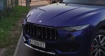 Припарковала Maserati на тротуаре и угрожала мужем: в Киеве заметили невежливую водительницу