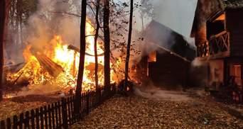 На Житомирщині вогонь охопив готельно-ресторанний комплекс: фото