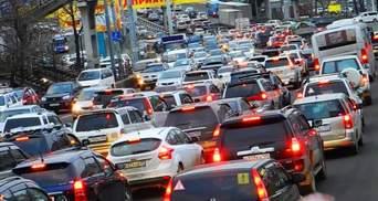 Пробки в Киеве утром 3 ноября