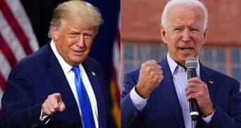 Рейтинги Трампа й Байдена в день виборів у США розділилися: хто може перемогти