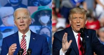 Трамп і Байден заявили про перемогу: перші звернення кандидатів