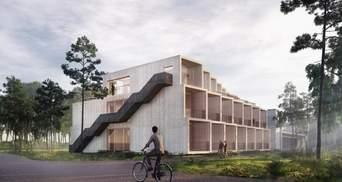 Без стали и бетона: в Дании появится первый нейтральный к экологии отель: фото разработки