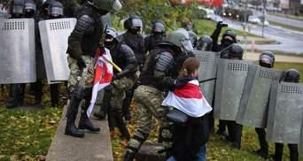 Жорсткі затримання та спецтехніка на вулицях: протести у Білорусі 8 листопада – фото, відео