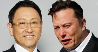 Tesla торгують рецептами, а не стравами, – глава Toyota різко висловився про компанію Маска