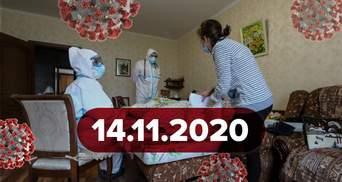Новини про коронавірус 14 листопада: рекорд хворих в Україні та COVID-19 у Степанова