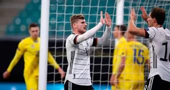 Сборная Украины уступила Германии в матче Лиги наций: видео