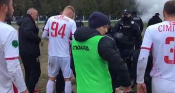"""Поліція побила фанатів """"Волині"""", які вибігли на поле у матчі з """"Вересом"""" – відео"""