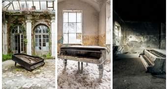 Фотограф и пианист 10 лет искал в Европе заброшенные фортепиано: 20 уникальных фото