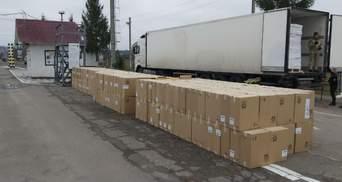 340 тисяч пачок сигарет у фурі з оселедцями виявили на кордоні з Білоруссю: фото, відео