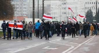Марш сусідів і силовий розгін людей: що відбувалося в Білорусі 29 листопада – фото, відео