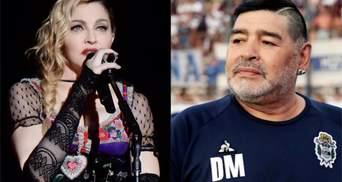 Покойся с миром, Мадонна: фанаты перепутали смерть футболиста Марадоны с певицей