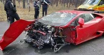 Стала известна стоимость Lamborghini Huracan, которую разбили возле Киева: снимали фильм