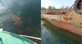 Розлив нафти у Чорному морі: поліція почала розслідування