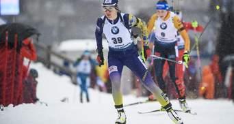 Биатлон: Пидгрушная завоевала 10-е место в спринте, победа Эберг