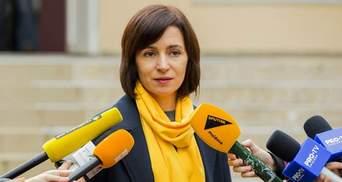 Майя Санду знову заявила, що Росія повинна вивести війська з Молдови