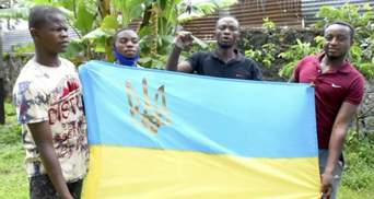 """""""Слава Збройним силам України"""": Африканці з Конго привітали українських військових – відео"""