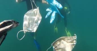Катастрофічне забруднення води: у 2020 році в океани потрапило понад 1,5 мільярда масок
