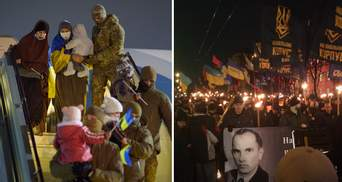 Главные новости 1 января: украинцы вернулись из лагерей в Сирии, марши памяти Бандеры