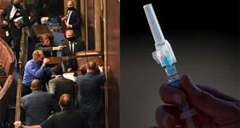 """Головні новини 6 січня: заворушення у Вашингтоні, """"таємна вакцинація"""" в Україні"""