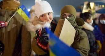 В Україну повернулися 2 жінки та 7 дітей, які перебували у сирійських таборах для біженців: фото