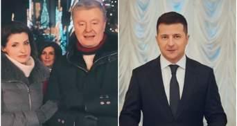 Два украинских телеканала показали перед Новым годом поздравления Порошенко, а не Зеленского